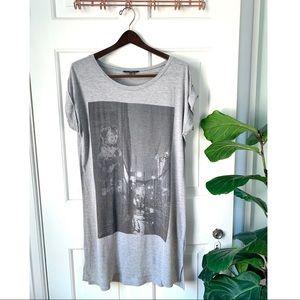 Obey Grey T Shirt Dress